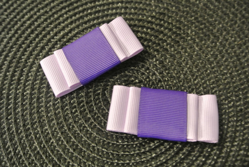 Lavender & Purple Hair Clip Bows - Set of 2