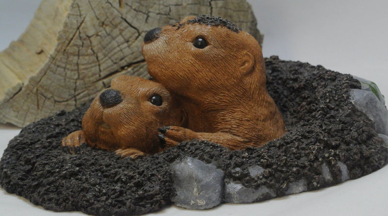 Gopher Duo Concrete Statue