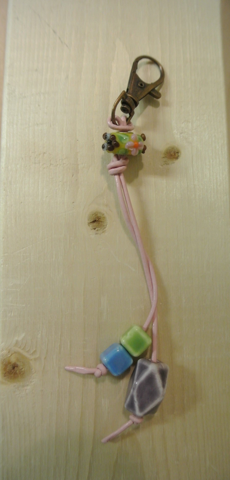 Multi Colored Beads Purse Charm