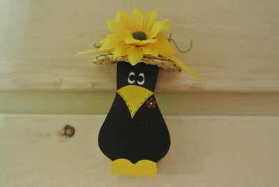 Crow in a Straw Hat Magnet