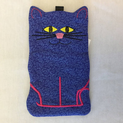 Fabric Embroidered Sunglass Case - Krazy Katz