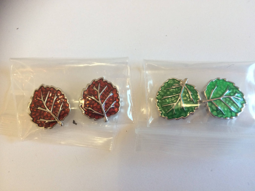 Leaf Mini Snap Button Sets for Earrings