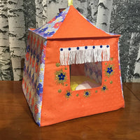 Homemade Fabric Doll Tent with Sleeping Bags