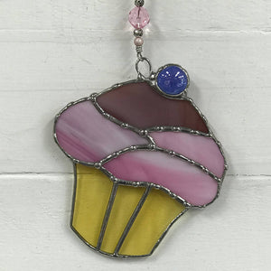 Stained Glass Cupcake Suncatcher