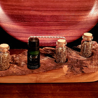 Handcrafted Live Edge Maple Wood Essential Oil Holder - 4 Bottle