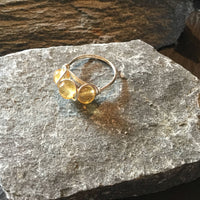 Citrine Natural Gemstone Sterling Silver Ring Size 5 1/2