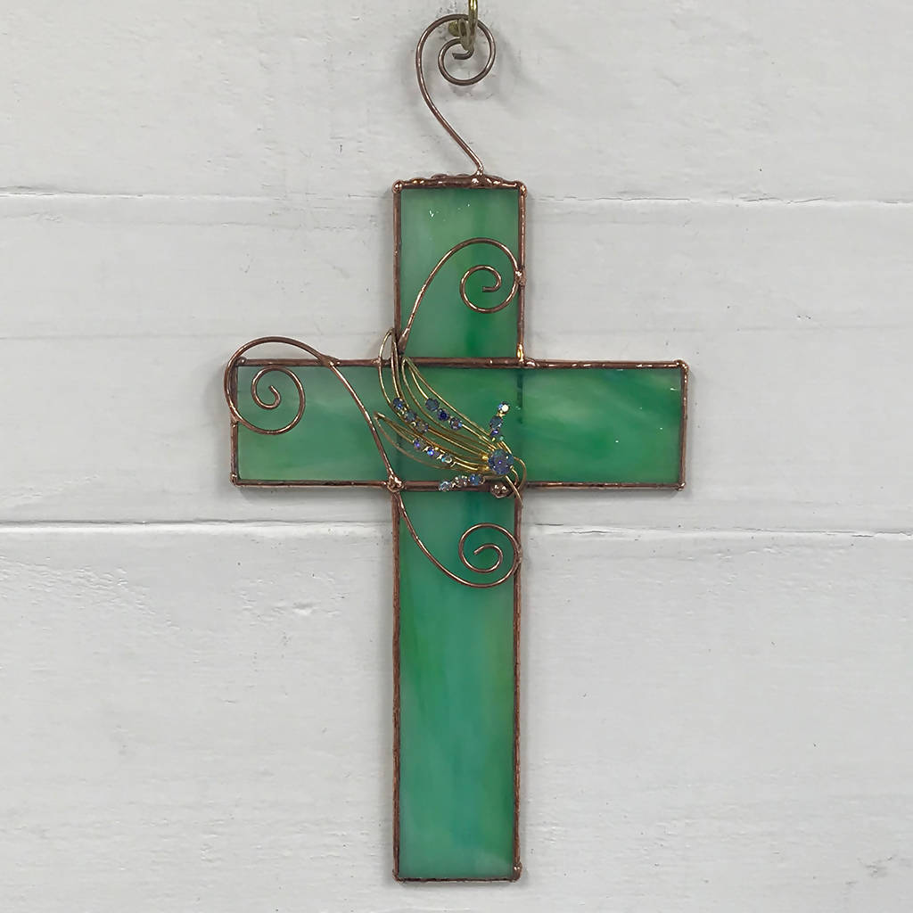 Stained Glass Cross Suncatcher