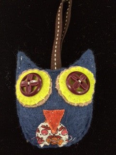 Stuffed Owl Ornaments