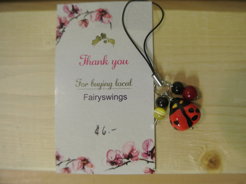 Lady Bug Cell Phone Charm