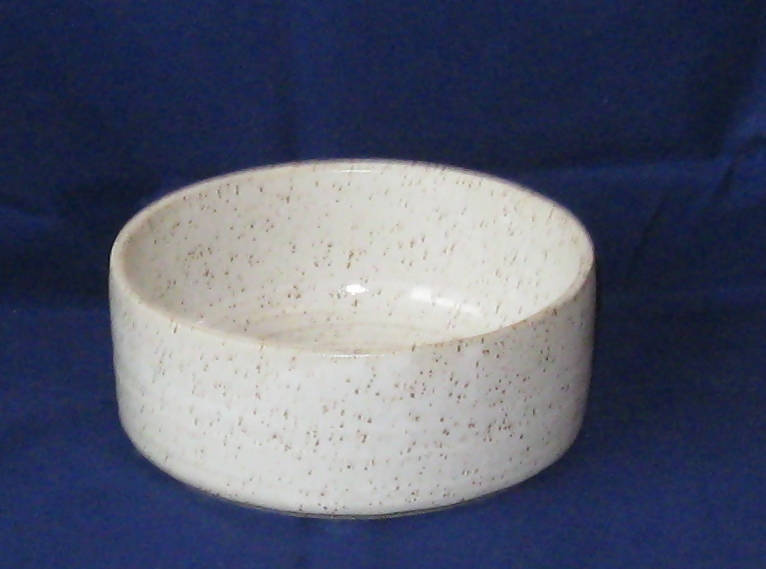 Small Speckled Pottery Casserole Dish