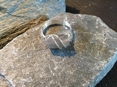 Labradorite Natural Gemstone Hand Twisted Sterling Silver Ring Size 10