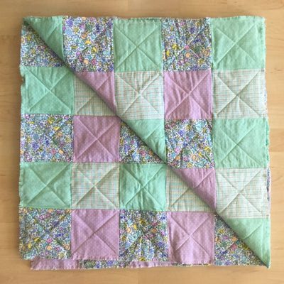 Homemade Ragtime Baby Quilt