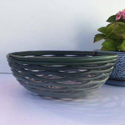 Recycled Plastic Decorative Bowls X-Large Shallow