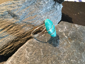 Russian Amazonite Natural Gemstone Hand Twisted Sterling Silver Ring Size 7