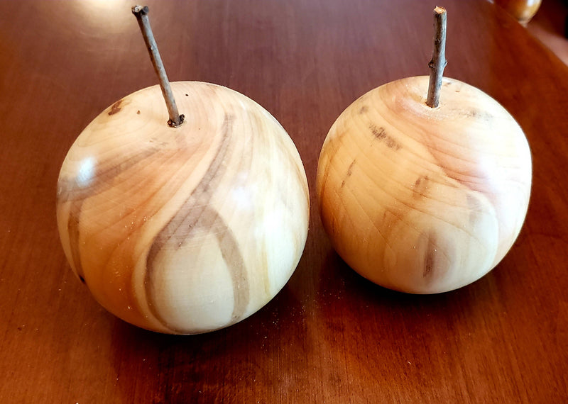 Wooden Apples - 9 cm