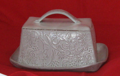 Large Pottery Butter Dish