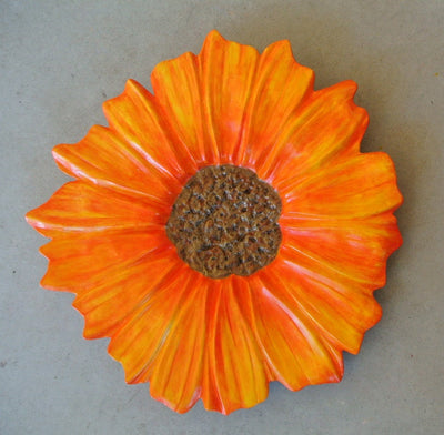 Sunflower Wall Hanging Concrete