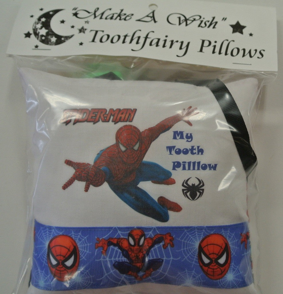 "Spiderman - ""Make A Wish"" Tooth-fairy Pillow"
