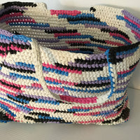 Crocheted Plastic Recycled Tote Bag Large