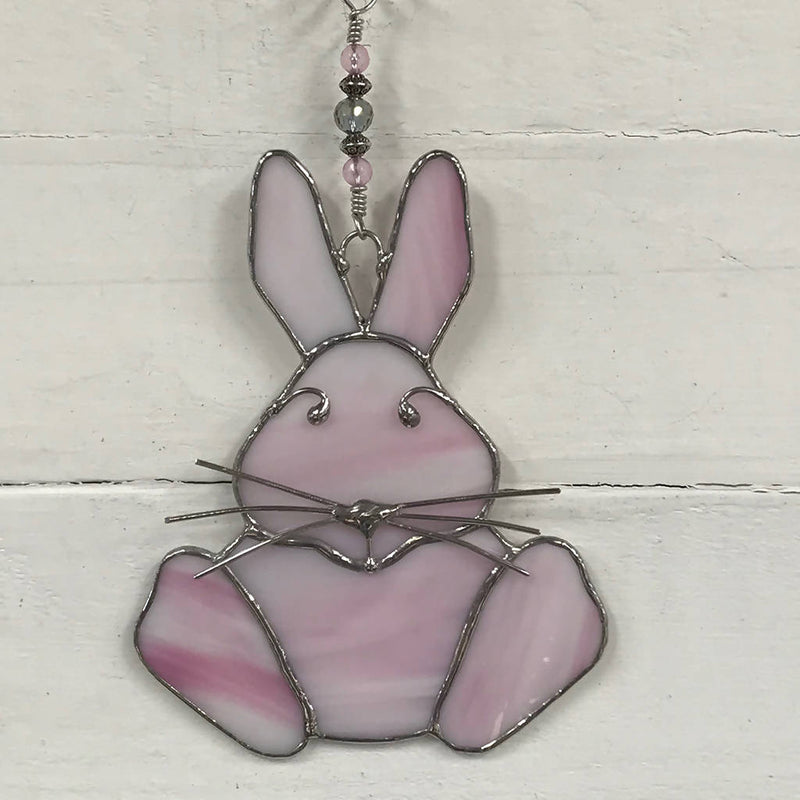 Stained Glass Easter Bunny Suncatcher