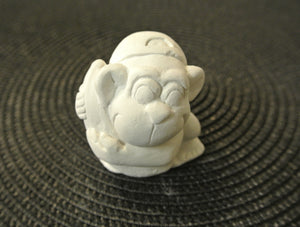 Gorilla with Banana Paintable - 3D