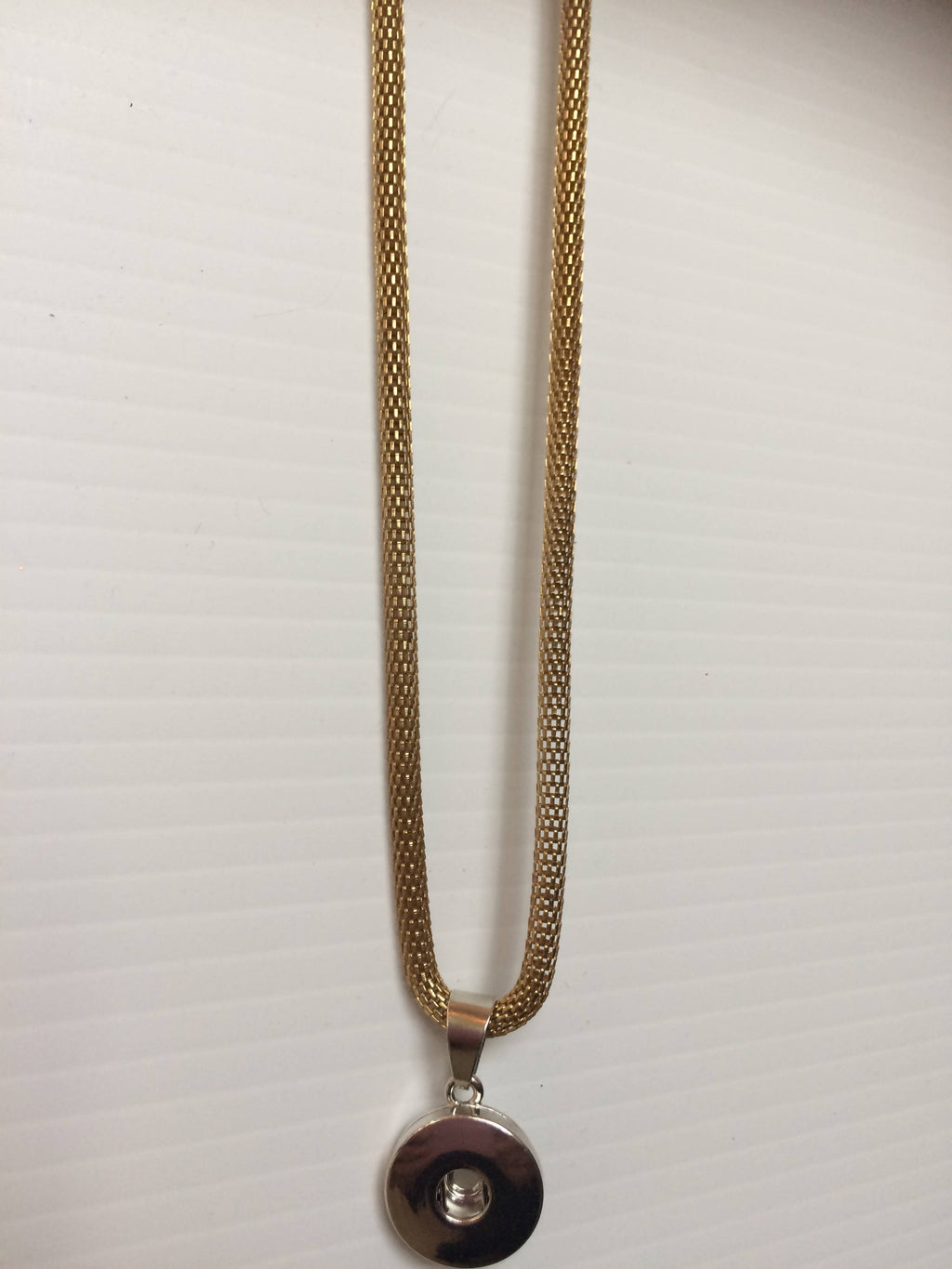 Gold Chunk Snap Pendant Necklace