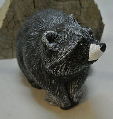 Raccoon and Fish Statue