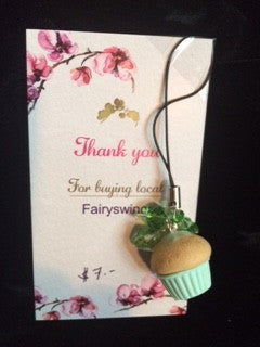 Green Cupcake Cell Phone Charm