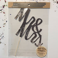 Mr & Mrs Paper Cake Toppers