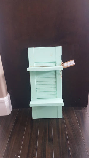Mint Shutter Shelf