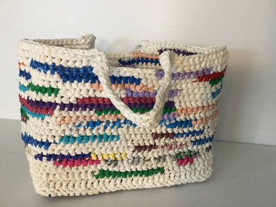 Crocheted Recycled Plastic Tote Bags