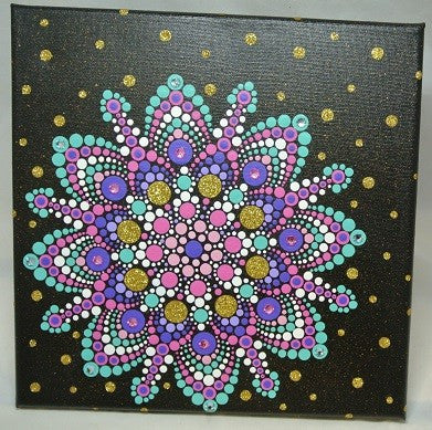 Mandala On Canvas - 10 x 10