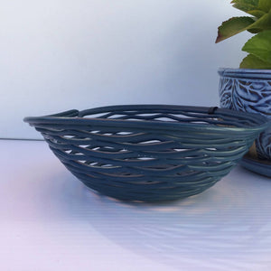 Recycled Plastic Decorative Fluted Bowls Medium