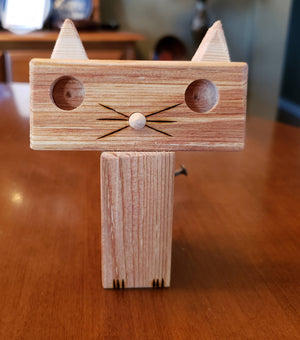 Handmade Wood Attentive Palley Cats