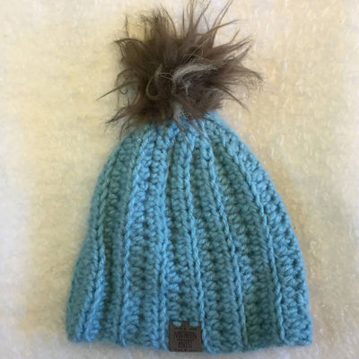 Crochet Ribbed Baby Toque 0-3 months
