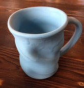Blue Bubbled Pottery Mug