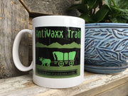 Printed Ceramic Coffee Mug AntiVaxx Trail
