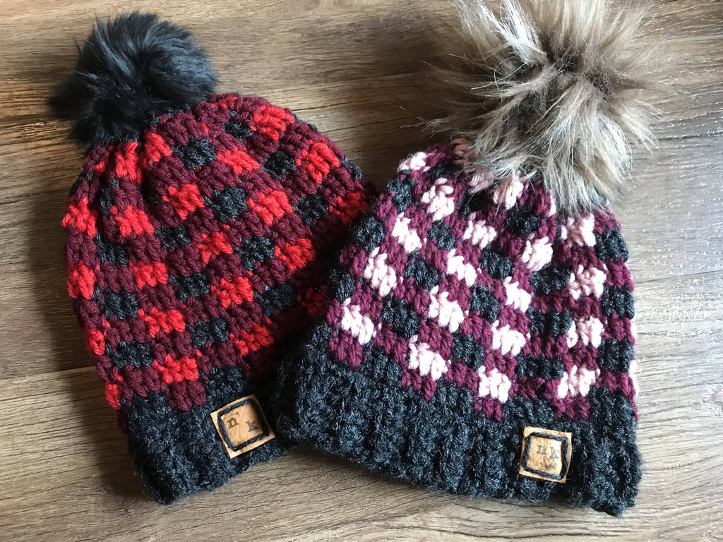 Crochet Plaid Toque 1-3 Years