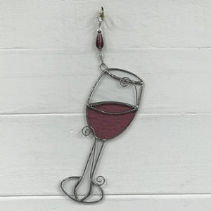 Stained Glass Wineglass Suncatcher