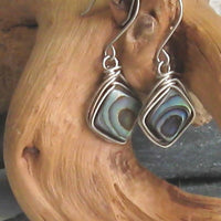 Abalone Argentium Sterling Silver Earrings
