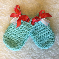 Crochet Scratch Mitts for Babies