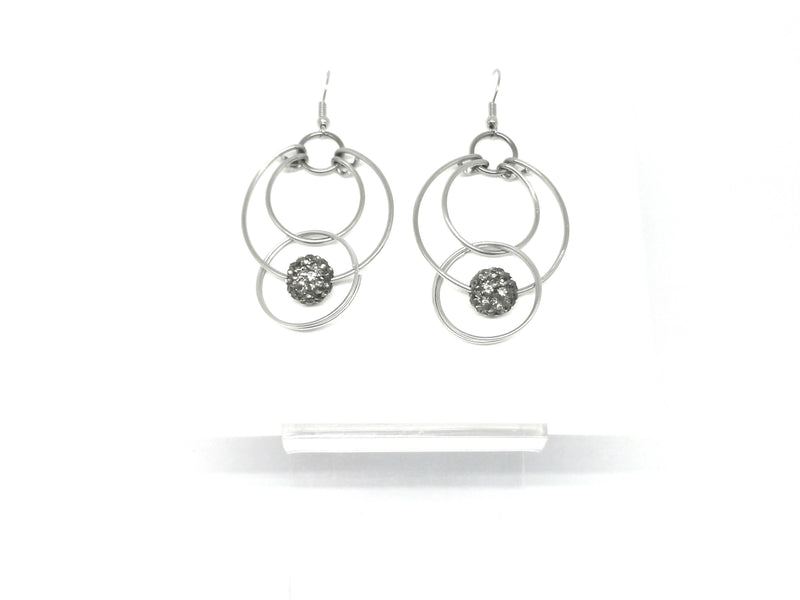 Hoop Earrings - Pave Bead