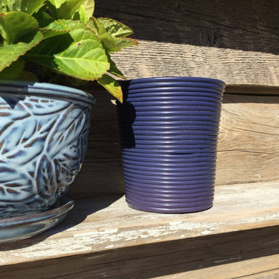 Recycled Plastic Decorative Coiled Containers Medium Wide