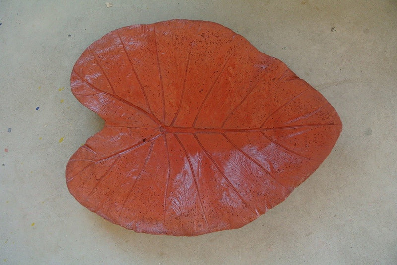 Elephant Ear Leaf Dish / Bird Feeder