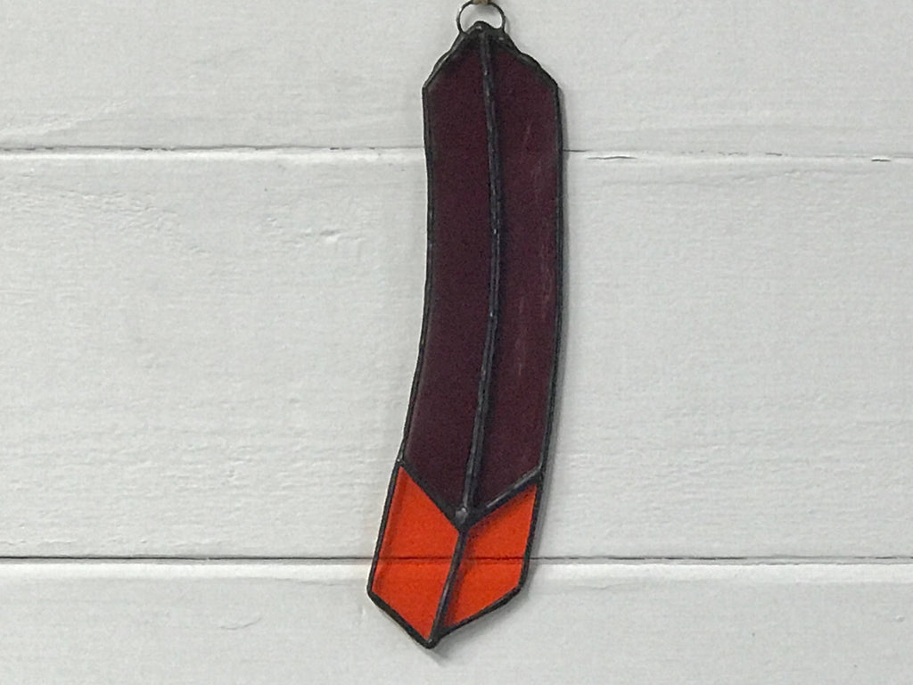 Stained Glass Feather Suncatcher