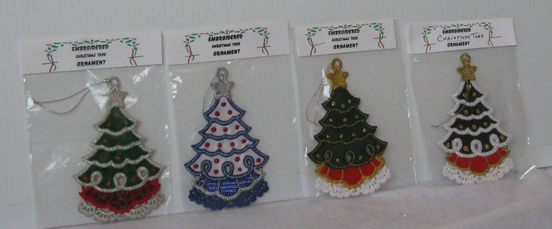 Embroidered Tree Ornaments