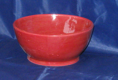 Pottery Red Serving Bowl