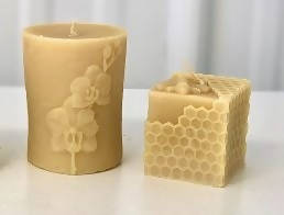 Pure Beeswax Hand Poured Molded Pillar Candles