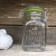 Etched Glass Stash Jar This is Totally Catnip