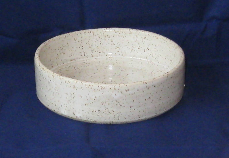 Smooth Speckled Pottery Casserole Dish